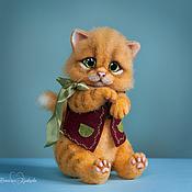 Куклы и игрушки ручной работы. Ярмарка Мастеров - ручная работа Валяный котенок Антоша. Handmade.