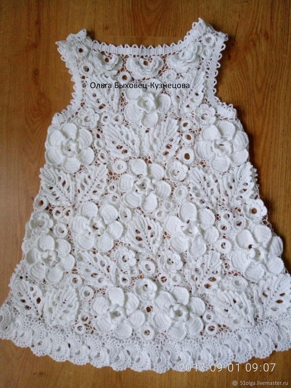 Платье для крещения в технике ирландского кружева