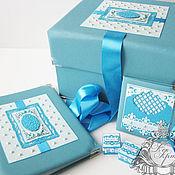 Подарки к праздникам ручной работы. Ярмарка Мастеров - ручная работа Набор для малыша (Коробка памяти,папка для рисунков,футляр для диска). Handmade.