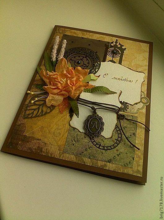 """Открытки для мужчин, ручной работы. Ярмарка Мастеров - ручная работа. Купить Открытка """"Мой рыцарь"""". Handmade. Коричневый, бумага для пастели"""