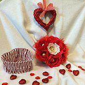 Сувениры и подарки ручной работы. Ярмарка Мастеров - ручная работа Сердце из роз. Handmade.