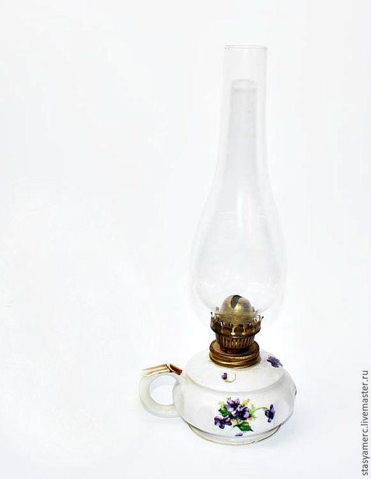 Винтажные предметы интерьера. Ярмарка Мастеров - ручная работа. Купить Керосиновые  лампы  Фиалки. Handmade. Керосиновая лампа, Керосинка, лампа
