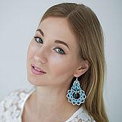 Украшения handmade. Livemaster - original item Lace earrings Swan feather. Handmade.