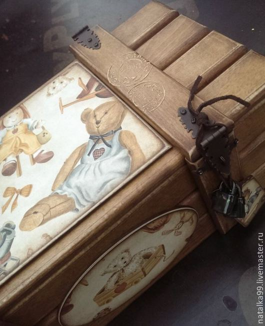 """Детская ручной работы. Ярмарка Мастеров - ручная работа. Купить """" Я люблю свои игрушки"""" ящик для хранения. Handmade."""