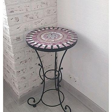 """Мебель ручной работы. Ярмарка Мастеров - ручная работа Столик кованый с мозаичной столешницей """"Анна"""". Handmade."""