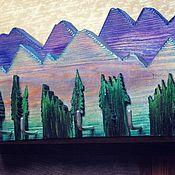 """Для дома и интерьера ручной работы. Ярмарка Мастеров - ручная работа Вешалка """"Горы и лес"""". Handmade."""