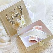 Открытки ручной работы. Ярмарка Мастеров - ручная работа Свадебная коробочка для денег с открыткой. Handmade.