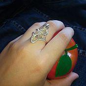Кольца ручной работы. Ярмарка Мастеров - ручная работа Серебряное кольцо Ящерица. Handmade.