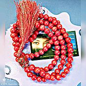 Фен-шуй и эзотерика handmade. Livemaster - original item Wonderful, bright coral amulet prayer beads 108 beads with brush. Handmade.