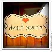 """Материалы для творчества ручной работы. Ярмарка Мастеров - ручная работа Наклейка """"HAND MADE"""" большая (12 шт). Handmade."""