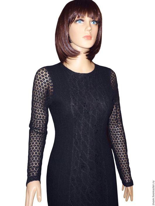 Платья ручной работы. Ярмарка Мастеров - ручная работа. Купить Валяное платье Little Black Dress нуновойлок. Handmade. Черный