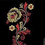 Материалы для творчества ручной работы. Ярмарка Мастеров - ручная работа Дизайн машинной вышивки Хохлома. Handmade.