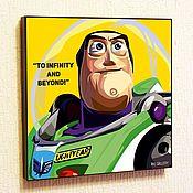 Подарки к праздникам handmade. Livemaster - original item Picture Poster Buzz Lightyear Pop Art Toy Story. Handmade.