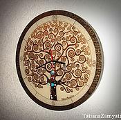 """Для дома и интерьера ручной работы. Ярмарка Мастеров - ручная работа Часы настенные """"Древо жизни"""" круглые. Handmade."""