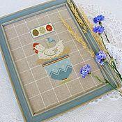 Картины и панно handmade. Livemaster - original item Hand-made cross-stitch