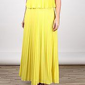 Одежда ручной работы. Ярмарка Мастеров - ручная работа Солнечное платье-гофре. Handmade.