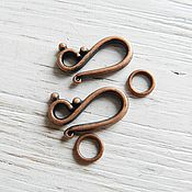 Материалы для творчества handmade. Livemaster - original item Lock hook for decorations on copper (Ref. 14741). Handmade.