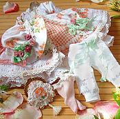 Куклы и игрушки ручной работы. Ярмарка Мастеров - ручная работа Платье для куклы шебби-шик. Handmade.
