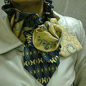 Аксессуары ручной работы. Ярмарка Мастеров - ручная работа Шарф украшение из винтажных галстуков. Handmade.