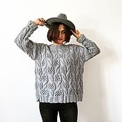 """Одежда handmade. Livemaster - original item Pullover """" Gray texture"""". Handmade."""