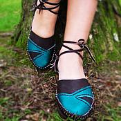 """Обувь ручной работы. Ярмарка Мастеров - ручная работа Кожаные сандалии """"Бирюза в Шоколаде"""". Handmade."""