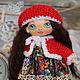 Коллекционные куклы ручной работы. Ярмарка Мастеров - ручная работа. Купить Игровая текстильная кукла Лейли.. Handmade. Игровая кукла