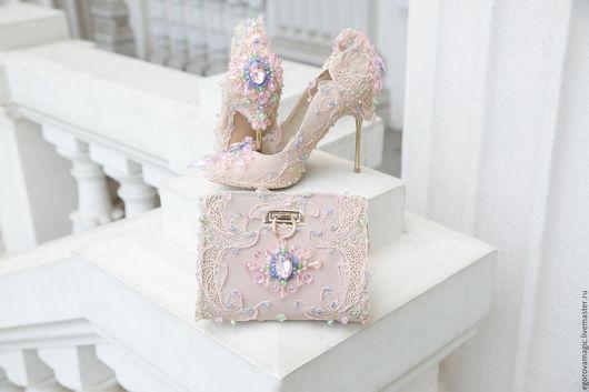 Обувь ручной работы. Ярмарка Мастеров - ручная работа. Купить Розовые мечты. Handmade. Бежевый, кружево, выпускной, розовый цвет
