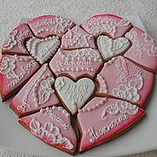 Сувениры и подарки handmade. Livemaster - original item Gingerbread ginger puzzles.Wedding or anniversary gift.. Handmade.