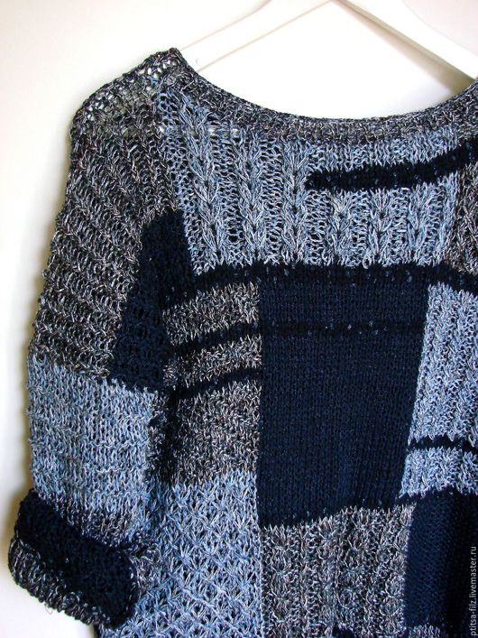 """Кофты и свитера ручной работы. Ярмарка Мастеров - ручная работа. Купить Джемпер """"Индиго"""". Handmade. Синий, модный джемпер"""