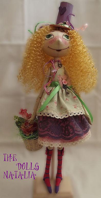 Куклы тыквоголовки ручной работы. Ярмарка Мастеров - ручная работа. Купить Шляпница - Берта. Handmade. Тыквоголовка, кукла в подарок, фетр