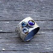 """Украшения ручной работы. Ярмарка Мастеров - ручная работа Серебряное кольцо """"Капли"""", кольцо три камня. Handmade."""