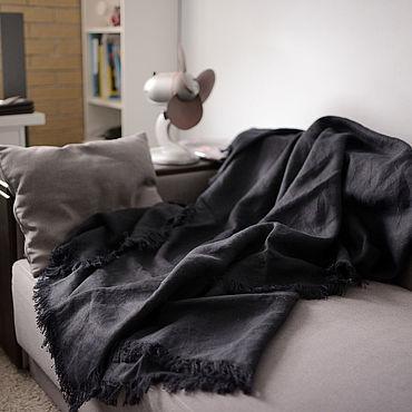 Текстиль ручной работы. Ярмарка Мастеров - ручная работа Льняное покрывало. Handmade.