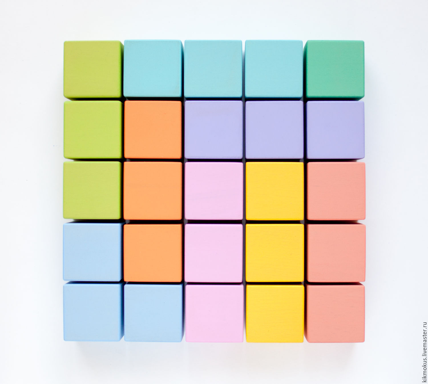 Colorful cubes for kids – shop online on Livemaster with shipping