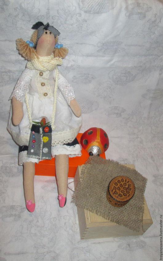 Куклы Тильды ручной работы. Ярмарка Мастеров - ручная работа. Купить Элла, барышня в стиле бохо.. Handmade. Комбинированный