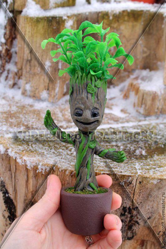 """Статуэтки ручной работы. Ярмарка Мастеров - ручная работа. Купить Малыш Грут (Little Groot) из фильма """"Guardians Of The Galaxy"""". Handmade."""