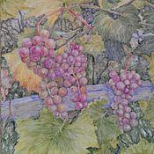 Картины ручной работы. Ярмарка Мастеров - ручная работа Спеет виноград (плитка). Handmade.