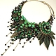 Dreams Of The Emerald Bird. Necklace and brooch. Jewelry Sets. ms. Decorator. Online shopping on My Livemaster.  Фото №2