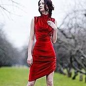 Одежда ручной работы. Ярмарка Мастеров - ручная работа Бархатное платье №2. Handmade.
