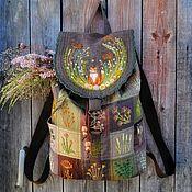 Backpacks handmade. Livemaster - original item Linen backpack