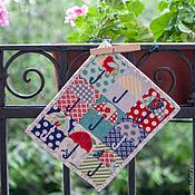 """Картины и панно ручной работы. Ярмарка Мастеров - ручная работа Мини квилт """"Зонтики"""". Handmade."""