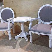 Для дома и интерьера ручной работы. Ярмарка Мастеров - ручная работа комплект детской мебели-кресла+столик. Handmade.