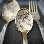 Ложки ручной работы. Ярмарка Мастеров - ручная работа Детский именной набор из трех предметов в подарочной коробочке. Handmade.