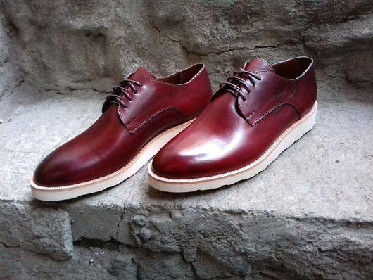 Обувь ручной работы. Ярмарка Мастеров - ручная работа. Купить Morflex 48. Handmade. Morflex, бордовый, необычный, натуральная кожа