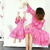 Одежда handmade. Livemaster - original item Set.Family bow for mom and daughter