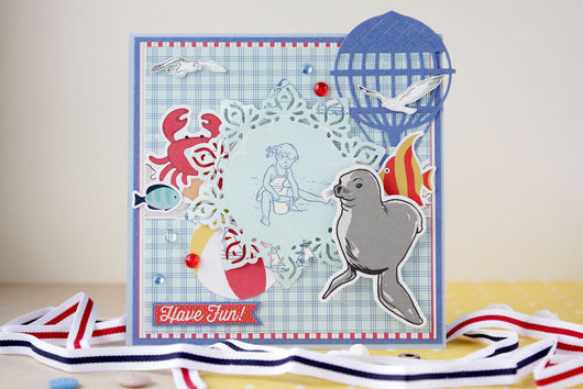 """Открытки на все случаи жизни ручной работы. Ярмарка Мастеров - ручная работа. Купить Открытка """"Have Fun"""". Handmade. Голубой, открытка"""