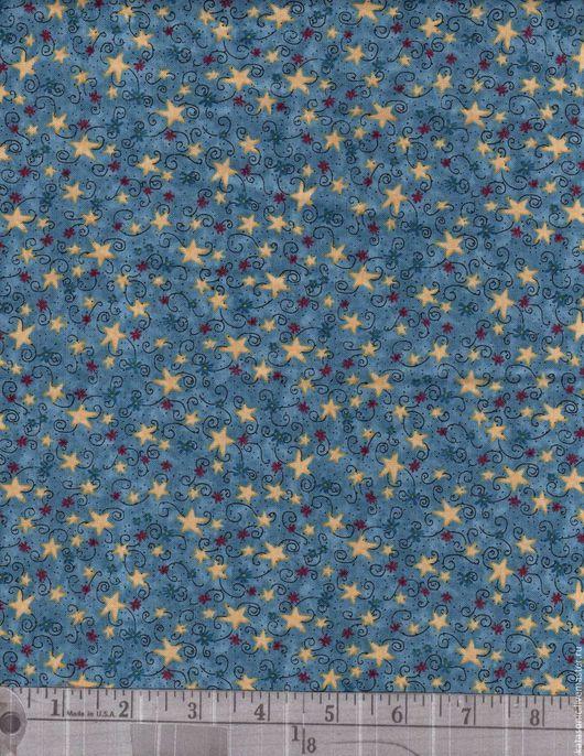 Шитье ручной работы. Ярмарка Мастеров - ручная работа. Купить 1199 Американская ткань. Handmade. Синий, ткань с рисунком, ткань