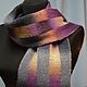 Полосатый шарф ручной работы