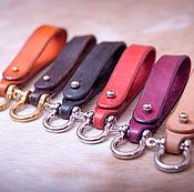 Аксессуары handmade. Livemaster - original item key holder made of genuine leather. Handmade.