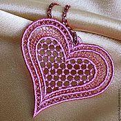 Подарки к праздникам ручной работы. Ярмарка Мастеров - ручная работа Кружевная валентинка-3. Handmade.