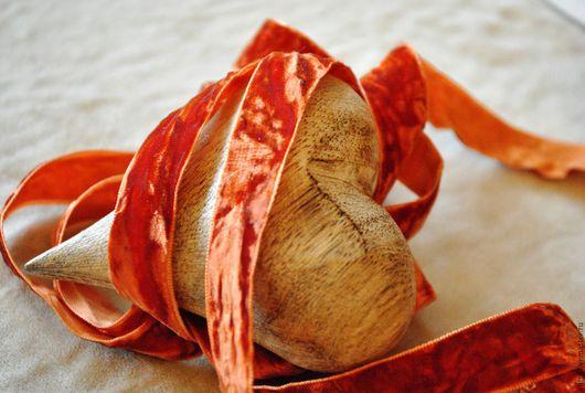 """Шитье ручной работы. Ярмарка Мастеров - ручная работа. Купить Лента плюшевая """"винтажная"""" Рыжий (Франция). Handmade. Рыжий"""